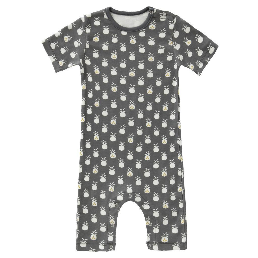 "Baby pyjama ""Pineapple anthracite"" from organic cotton"