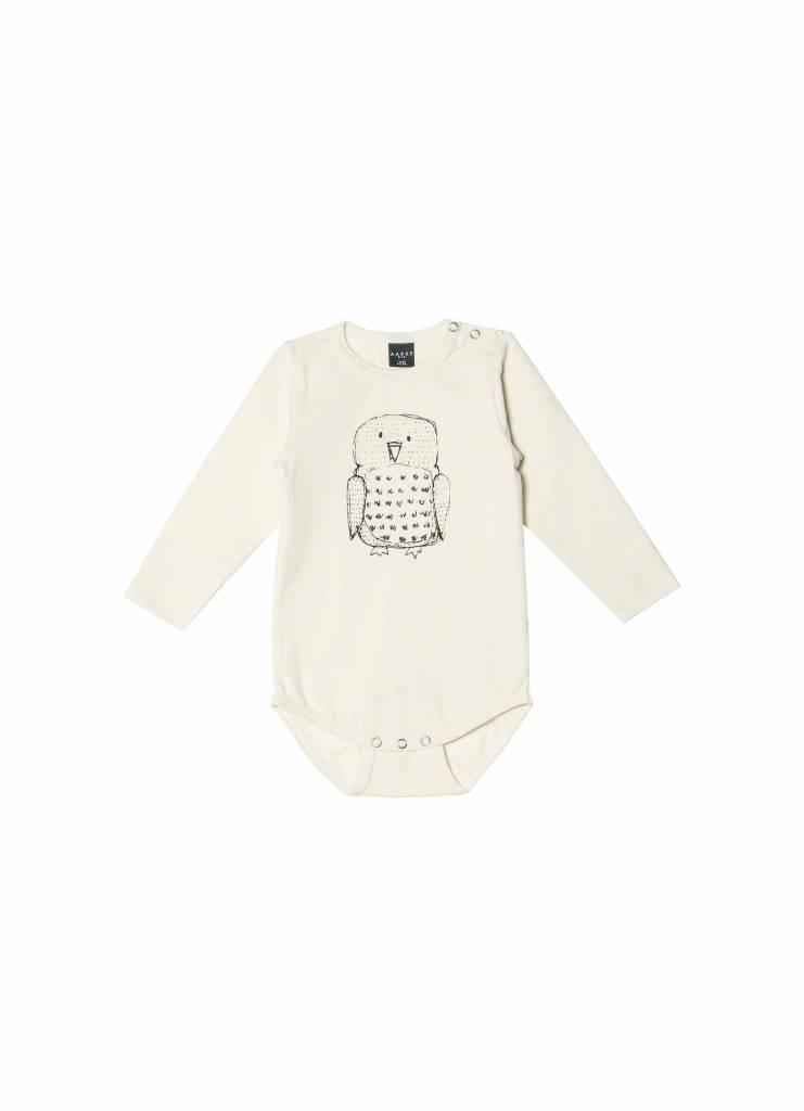 Baby Body Owl aus Biobaumwolle crèmefarben