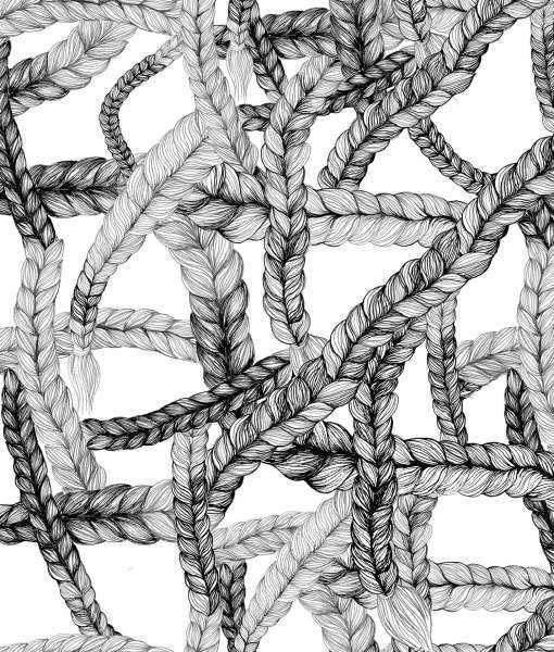 Couverture Braid pour bèbè en coton biologique
