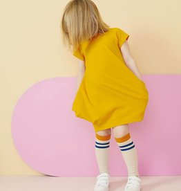 "PAPU / Short sleeve dress ""Kanto"" in Brush Orange"
