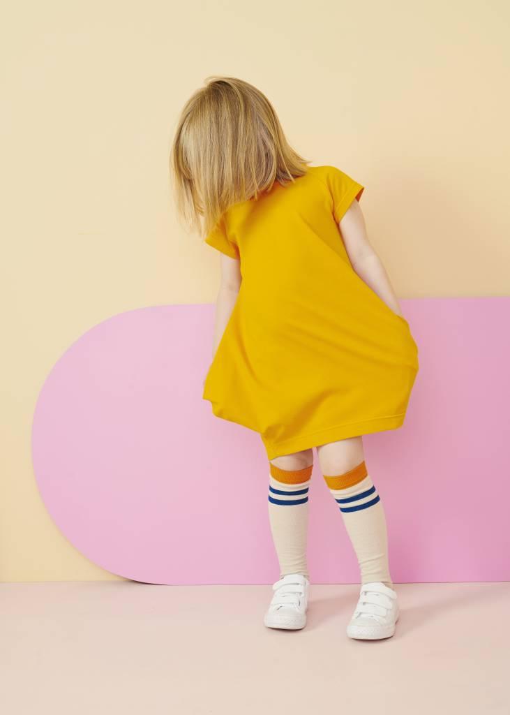"PAPU - Short sleeve dress ""Kanto"" in Brush Orange"