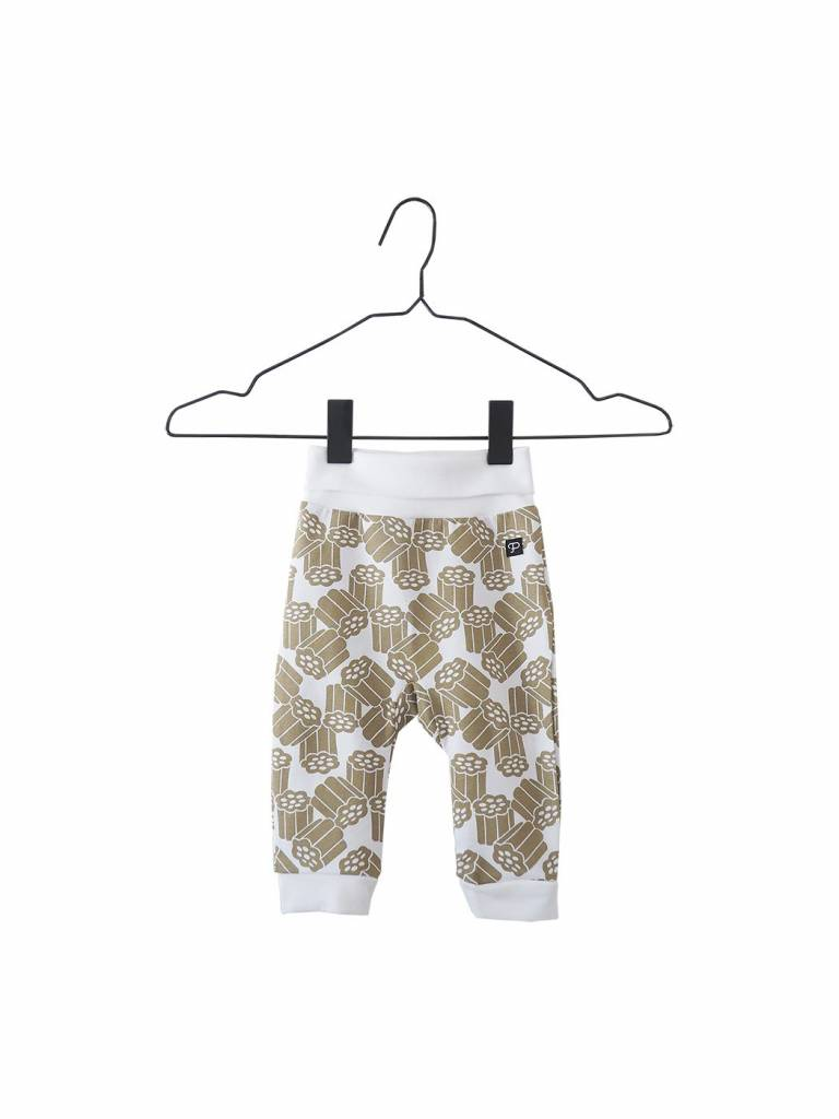 "Baby pants ""Kultalaku"" gold/white"