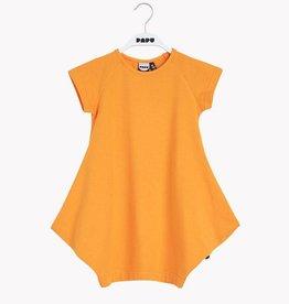 """PAPU / Kids Short sleeve dress """"Kanto"""" in Brush Orange"""