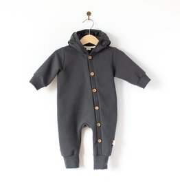 SLEEPY FOX / Baby Hooded jumpsuit nearly black
