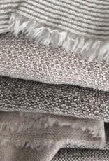 Tunic sweater gray-white from fine Merino Wool
