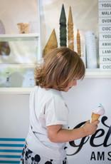 Kinder T-Shirt in lockerer Passform in grauweiss