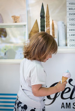 Kinder T-Shirt Oversize-Passform in grauweiss