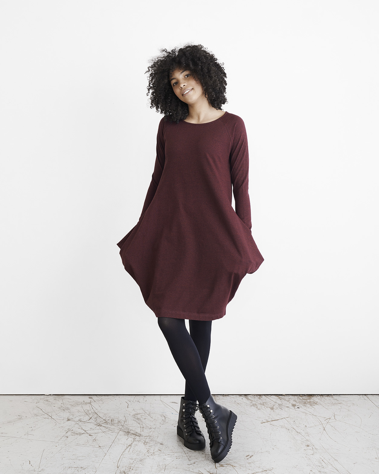 "Longsleeve Dress ""Kanto"" in Tile melange"