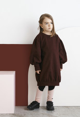 Longsleeve dress Tile melange with puffy sleeves