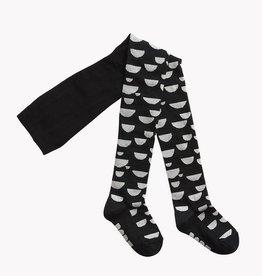 PAPU / Collants enfants noir/crème