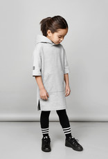 Hooded tunic in grey 100% recycled materials