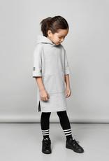 Hooded tunic in grey