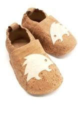 "Kids Slippers ""Hedgehog""  made of vegan corc fabric"