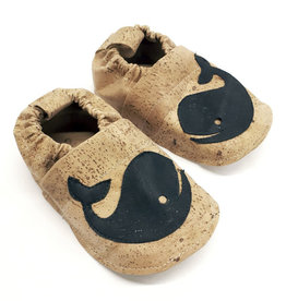 "HIPPA / Kids Slippers ""Whale""  made of vegan corc fabric"