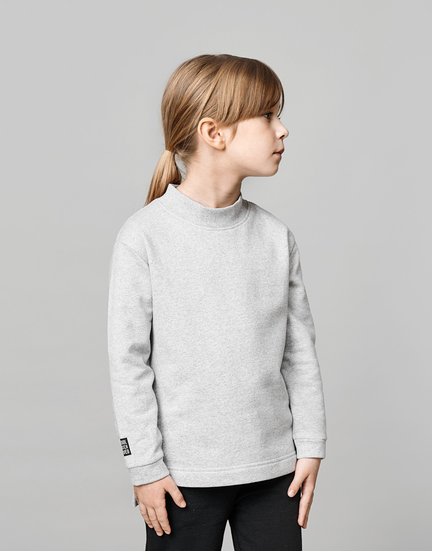 Pull gris colour 100% recycled materials