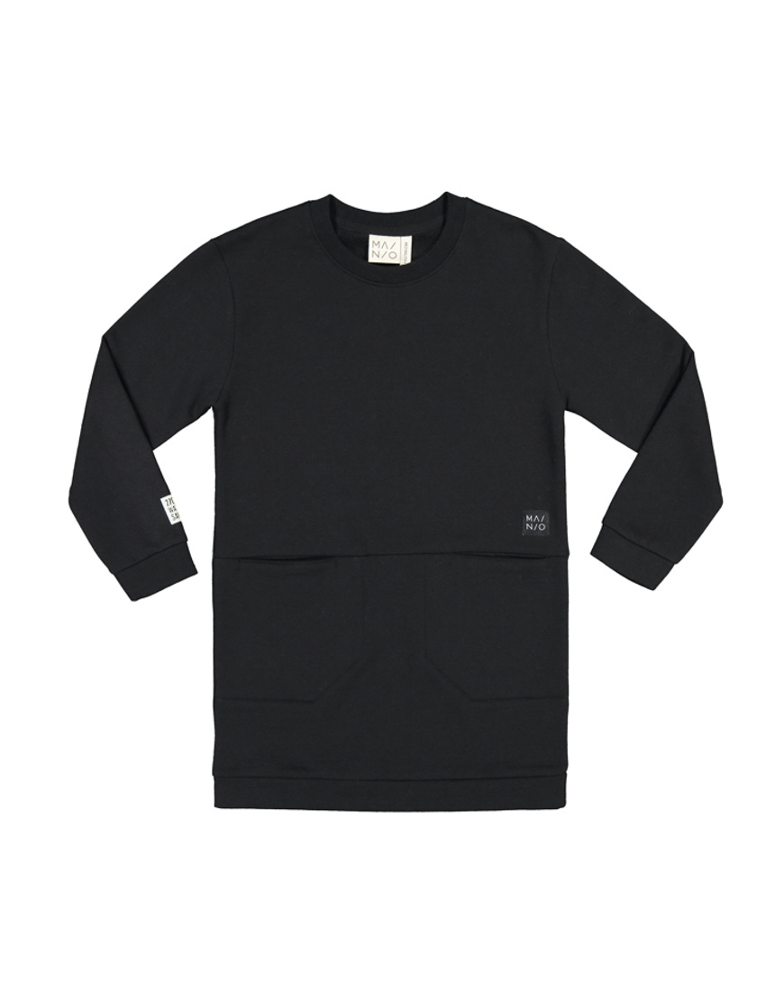Tunic sweater black 100% recycled material