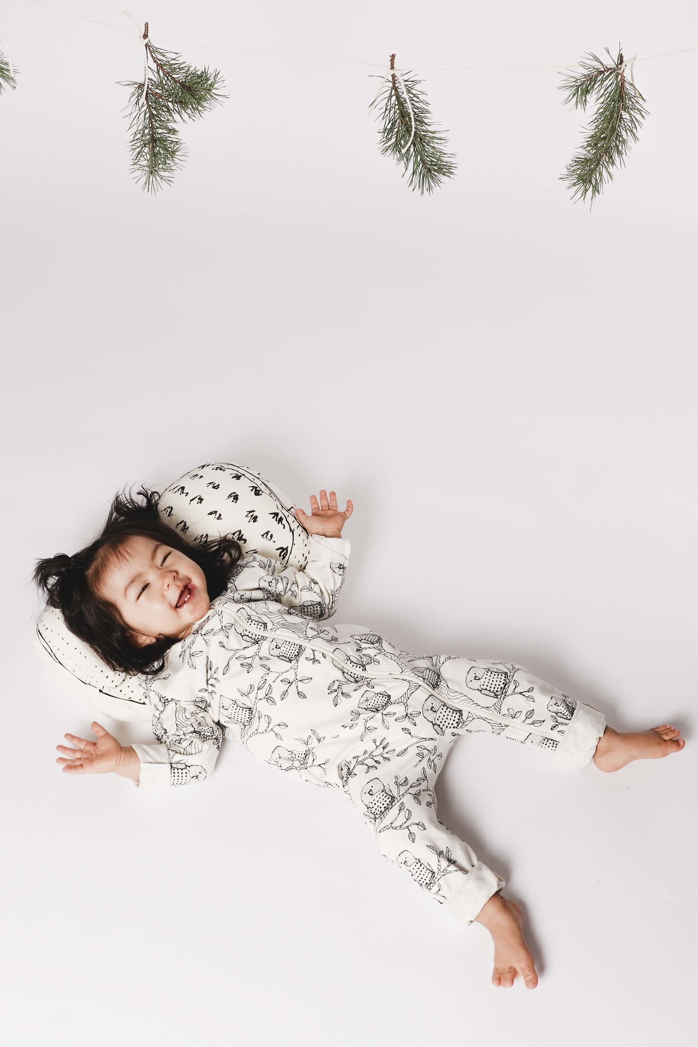 "Jumpsuit ""Owl"" from organic cotton"
