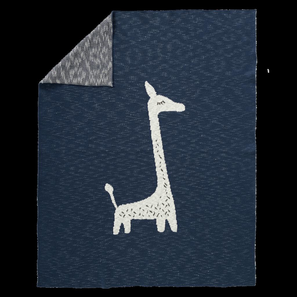 """Blanket """"Giraffe"""" blue/white"""