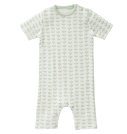 "FRESK / Kurzärmeliges Baby Pyjama ""Leaves mint"""