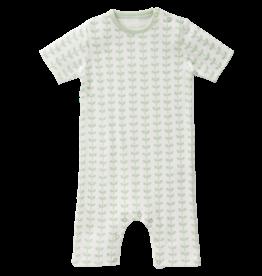 "FRESK / Short-sleeved Baby pyjama ""Leaves mint"""
