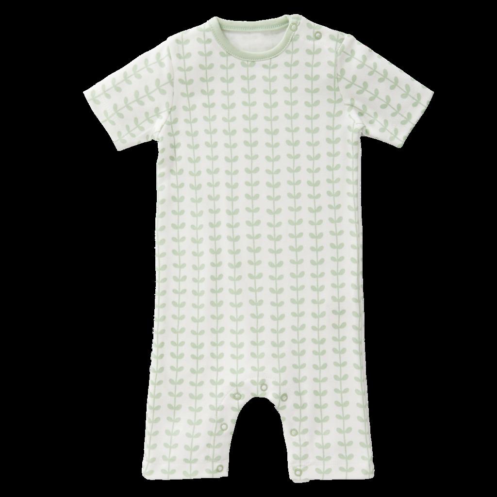 "Baby Pyjama ""Leaves mint"" aus Biobaumwolle"