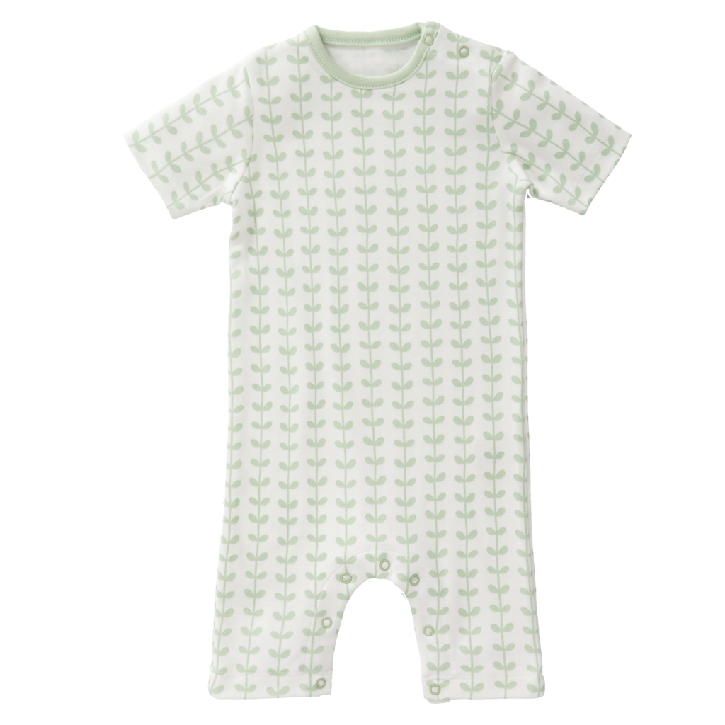 "Baby pyjama ""Leaves mint"" from organic cotton"