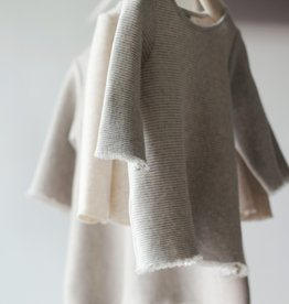 knitWORKS / Tunic sweater gray-white