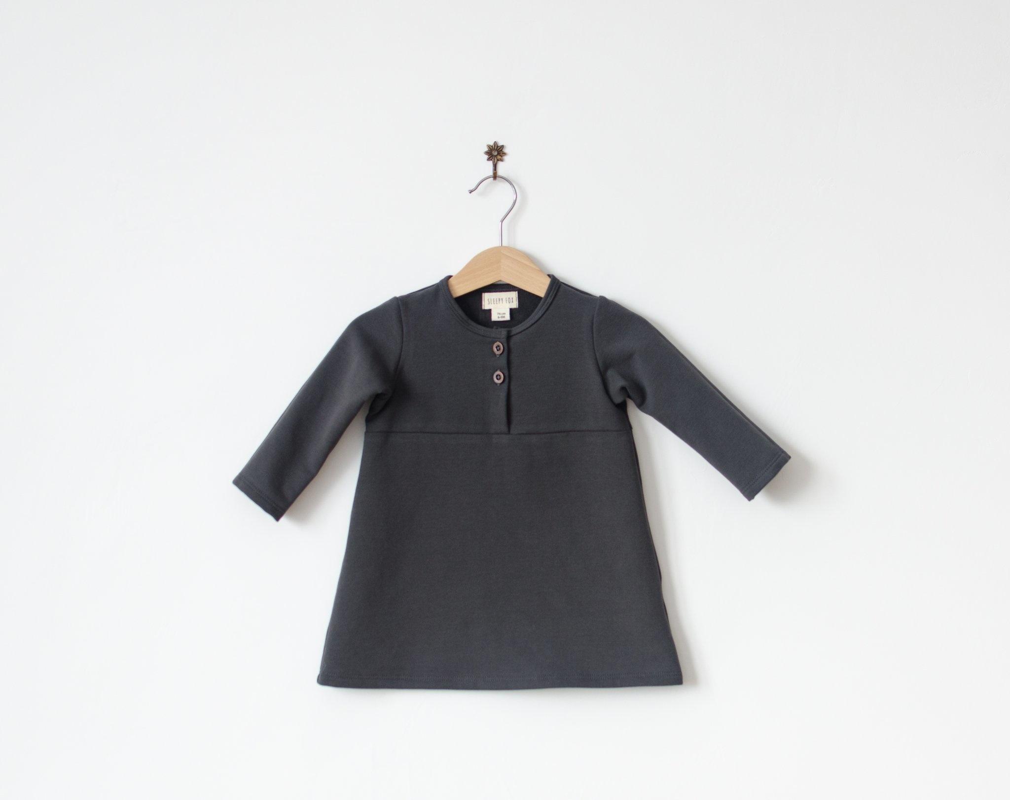 Kleid karbongrau