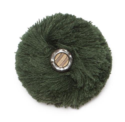 Abnehmbarer Pompon waldgrün