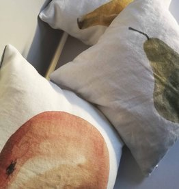 "KAARE LIVING / Pillow case ""Orange"" 100% linen"