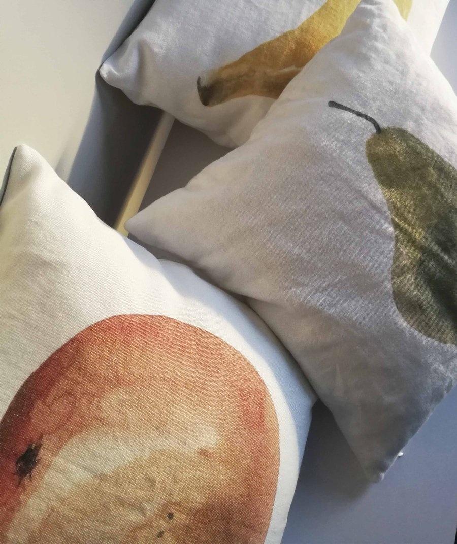 """Pillow case """"Pear"""" 100% linen"""