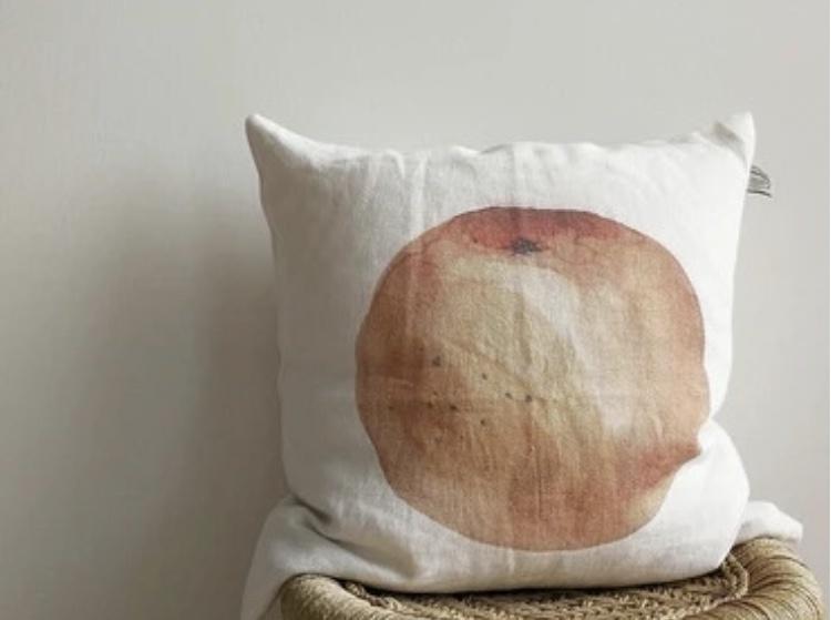 """Pillow case """"Orange"""" 100% linen"""