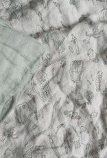 BABY  Bedclothes 100% linen sage green
