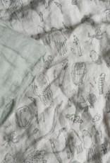 BABY Bettwäsche aus 100% Leinen salbeigrün