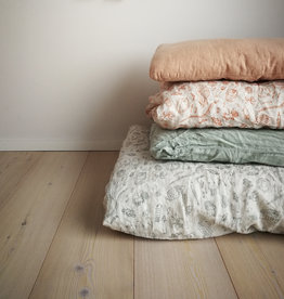 KAARE LIVING / KIDS Bettwäsche aus 100% Leinen salbeigrün