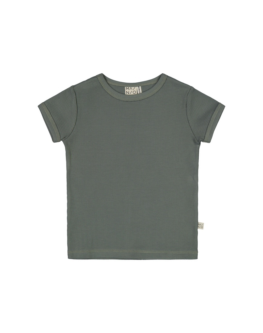 Waffel T-Shirt Agavengrün