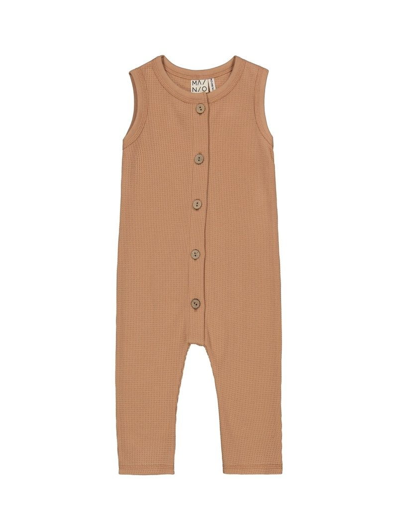 "Baby Waffle jumpsuit ""toasted nut"" for baby and toddler"