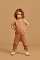 "Waffle jumpsuit ""toasted nut"" for baby and toddler"