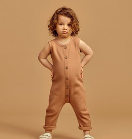 "MAINIO CLOTHING / Baby Waffel Overall ""toasted nut"""
