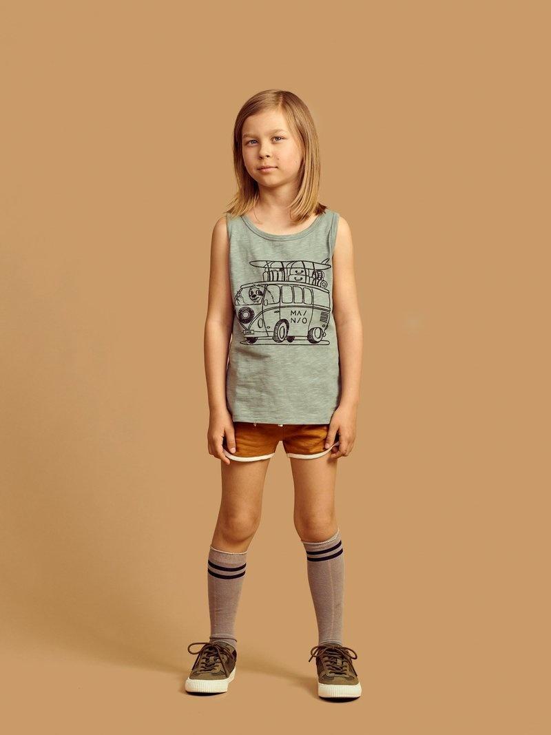 Sleeveless shirt seagrass