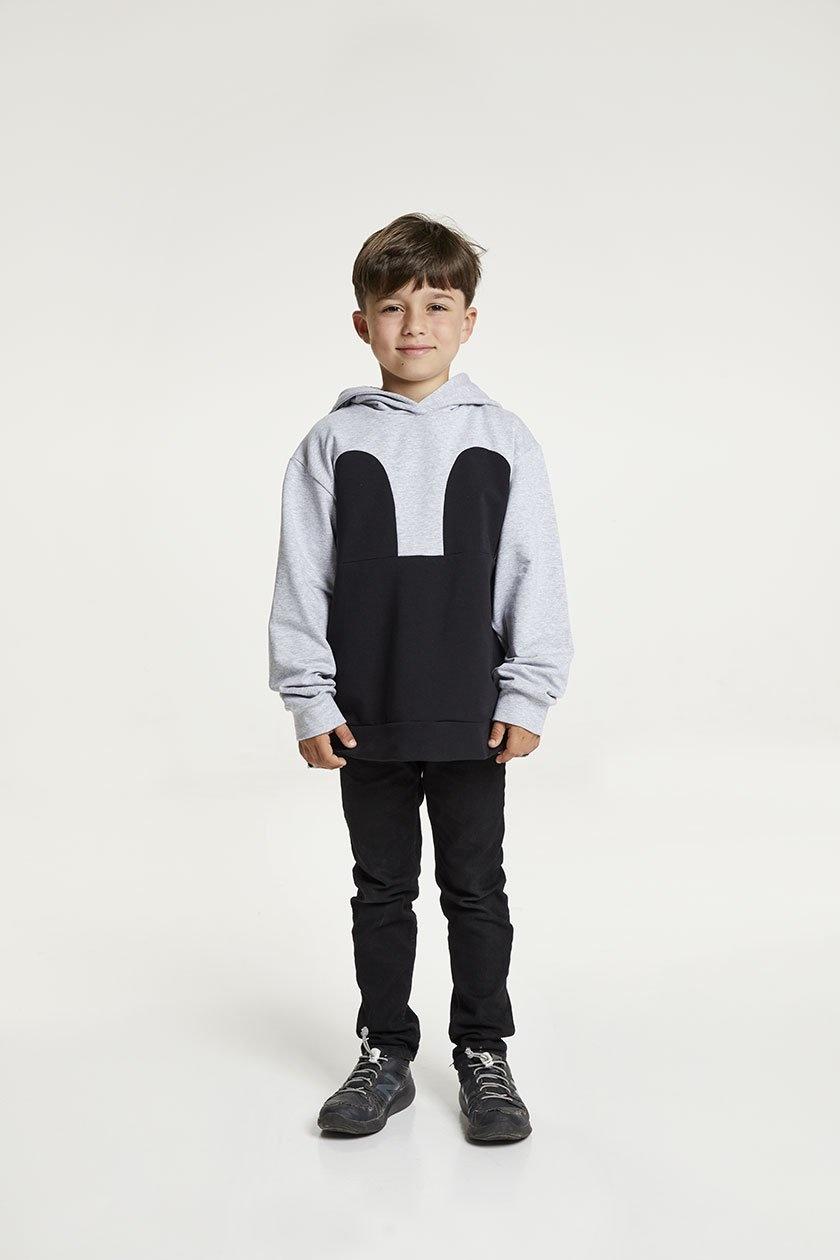 Mickey Hoodie gris noir
