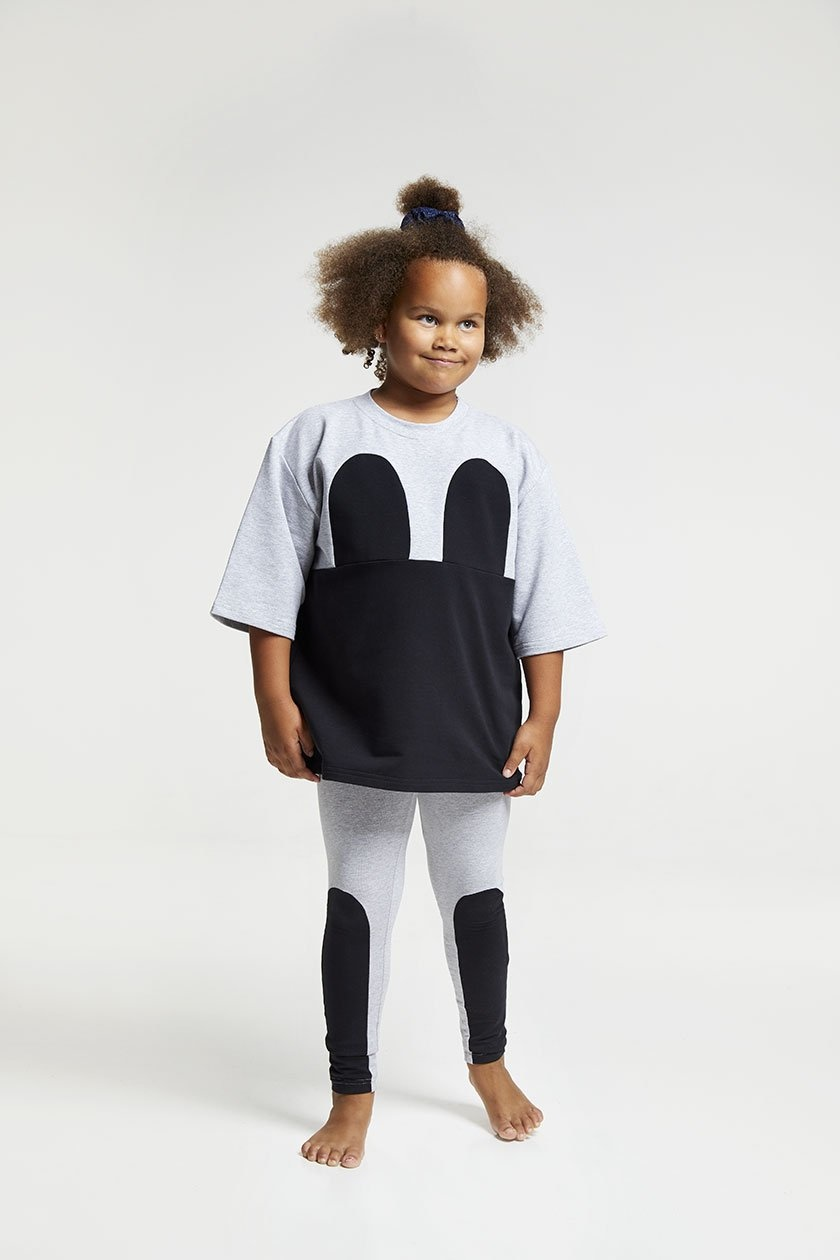 """Mickey Square"" Dress grey black"