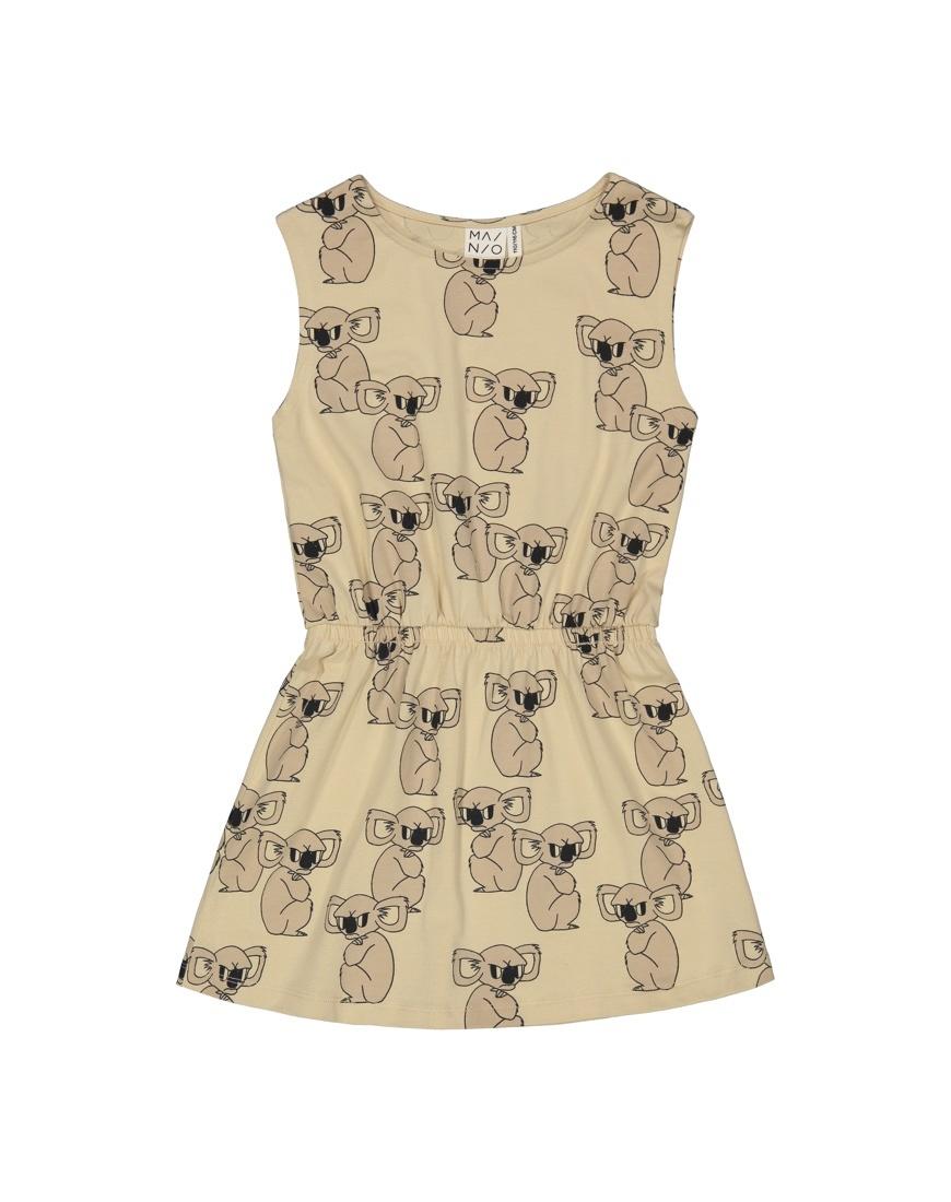 "Kleid ""Grumpy Koala"" beigefarben"
