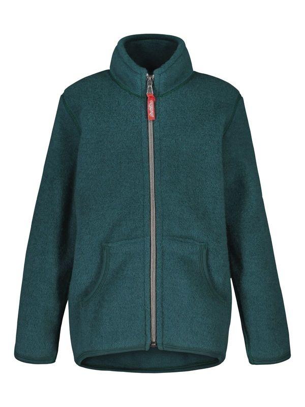 Kids Merino Fleece jacket in forest green