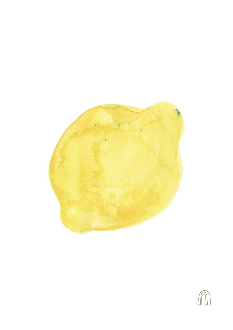 Poster mit Zitronenmotiv