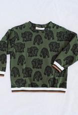 """Sommer Sweater """"GRIZZLY"""" grün/schwarz"""