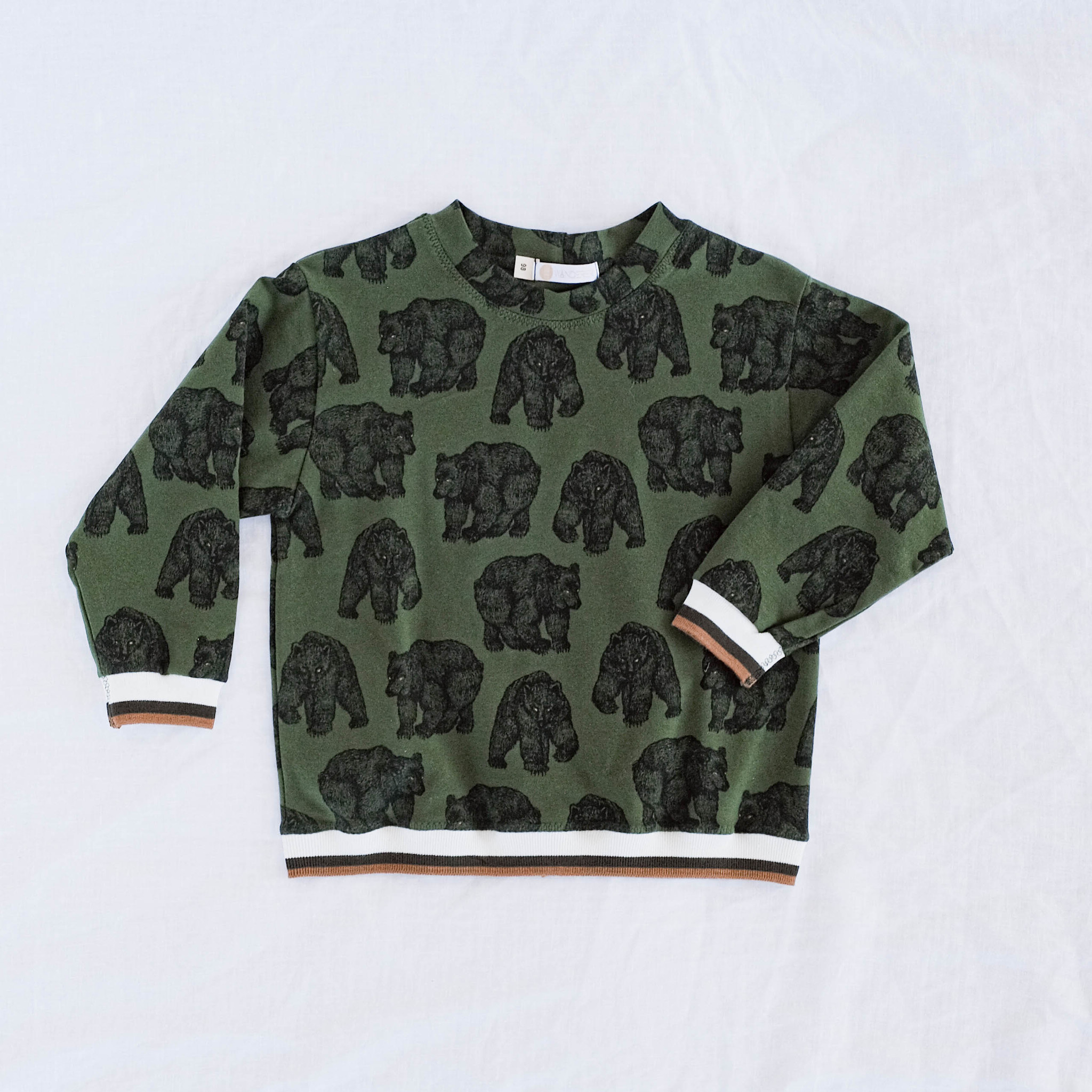 "Summer sweater ""GRIZZLY"" green/black"