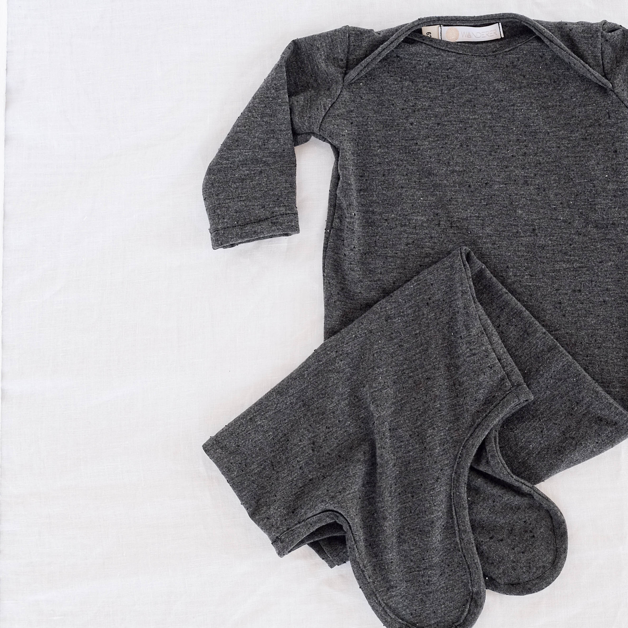 """Baby Onesie """"BAGGY"""" in anthracite"""