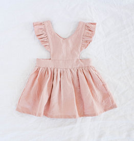 "WANDERER / Pinafore dress ""BELLE"" in old pink"