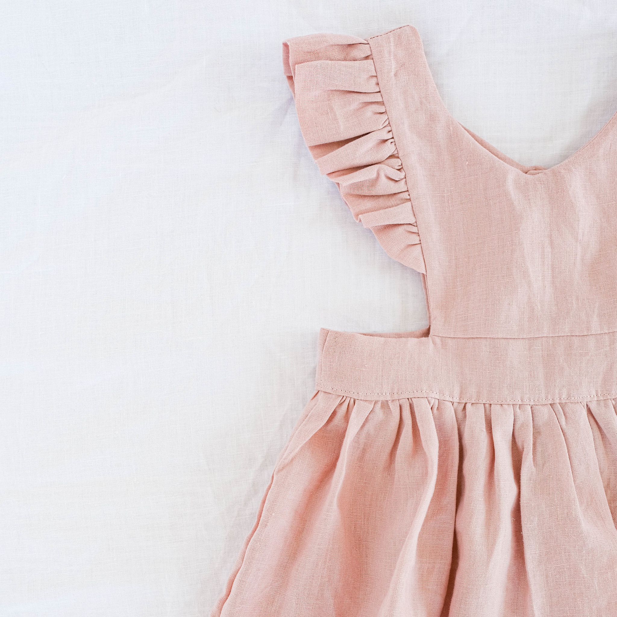 """Pinafore dress """"BELLE"""" in old pink"""